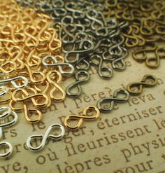 25 Infinity Figure Eight Links -Version I - 7mm x 3mm - Silver Plate Gold Plate Gunmetal or Antique Gold - 100% Guarantee by CreatingUnkamen - Jewelry supplies - jewelry making - jewelry supply - diy jewelry