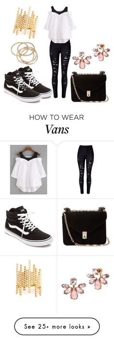 """""""Sem título #1229"""" by anaily on Polyvore featuring Maria Black, Vans, Valentino, ABS by Allen Schwartz and Marchesa"""