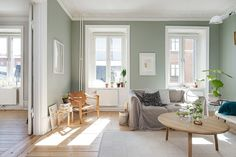 my scandinavian home: A calm Swedish apartment in green and cognac Green paint walls at home Living Room Green, Home Living Room, Home, Green Rooms, Scandinavian Home, My Scandinavian Home, New Living Room, House Interior, Home And Living