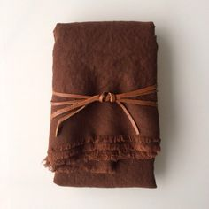 Chocolate Brown Linen Throw - neutral linen bedding - 72 x 54 - double sided - Earth Tones - Walnut - masculine throw - Soft Linen Blanket - Market