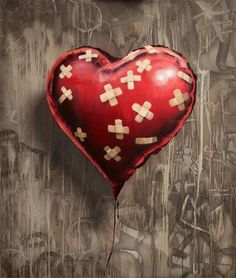 Favourite Banksy piece. A true representation of real love = A Healing Heart #Banksy #Art #Heart