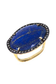 Blue Sapphire Diamond Halo Ring THIS IS THE MOST BEAUTIFUL RING EVER!