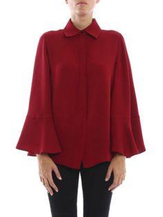 Valentino: shirts online - Bell sleeve silk shirt