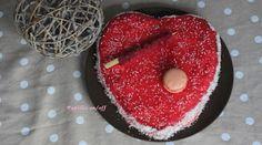 Papilles On/Off: Gâteau coeur de la Saint Valentin au chocolat et aux framboises, glaçage rouge à l'agar agar (au thermomix ou sans)