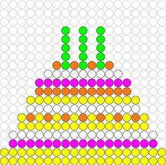 Kralenplank Verjaardagstaart 2 Pony Bead Patterns, Hama Beads Patterns, Beading Patterns, Kindergarten Themes, Preschool Math, Activities For Kids, Crafts For Kids, Montessori Art, Melting Beads
