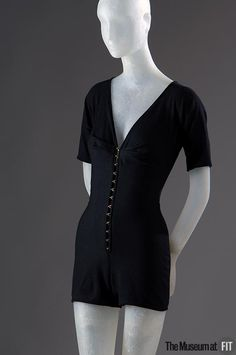 Swimsuit, Claire McCardell (1905-1958): 1941, American, wool jersey.