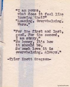 Typewriter Series #287by Tyler Knott Gregson
