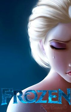 Disney Frozen- sad picture but at the same time beautiful.