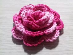 Passo a Passo de Crochê Rosa enrolada de barbante por JNY Crochê - YouTube