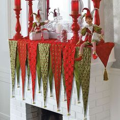 Ordered the Mantel Scarf; perfect for Whimsical Christmas décor!