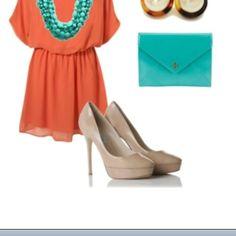 Orange & teal in fashion