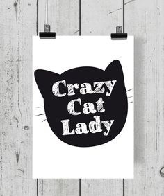 "Design Druck ""Cat Lady"" A4 Print Poster"