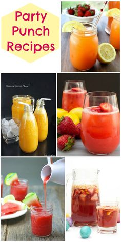 Party Punch Recipes - a delicious collection of punch recipes perfect for your next party. So many delicious ideas for a summer BBQ or patio party!