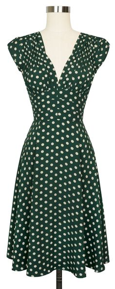 The favorite Trashy Diva 1940's Dress is back in the super fun Irish Polka print!