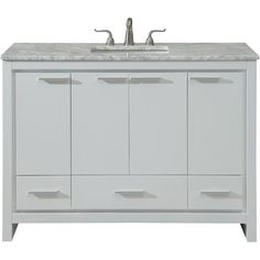 Designed with an Italian modernist concept. our Filipo vanity makes a striking statement reflecting clean. With a spacious and lustrous Italian Carrara white marble top. and a fashionable rectangular white porcelain sink. White Sink, Single Bathroom Vanity, Bathroom, Vanity, Decor, Vanity Cabinet, Drawers, Elegant Decor, Marble Countertops