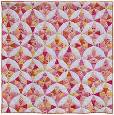 I love this Kaleidoscope quilt!  Sadly, there's no blog or flickr permalink on this pin, so I don't know who to credit it to.