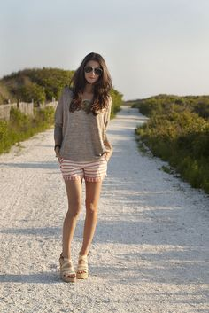 Casual but chic at the beach. As seen on Saucy Glossie.