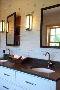 Custom recessed medicine cabinets and vanity