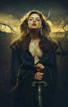"""Angrboda, Angrboða (""""the one who brings grief"""" or """"she-who-offers-sorrow"""") is a female jötunn (giantess). Loki's giant-wife, mother of the Wolf Fenrir, the Midgard Serpent, and Hel."""