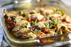 Italian Chicken Bake - Artichokes, can of tomatoes, garlic and boom - dinner time!