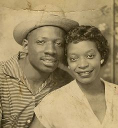 +~ Vintage Photo Booth Picture ~+  Love is in the air.