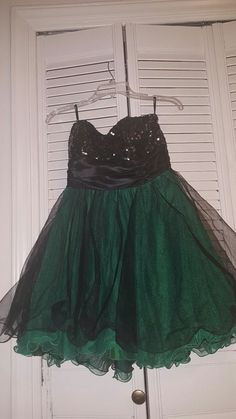 Speechless Short Strapless Black/Green Sequin Prom Party Dress Junior Sz 9~Euc | Clothing, Shoes & Accessories, Women's Clothing, Dresses | eBay!