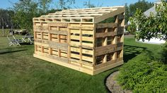 Pallet Wood Shed back view
