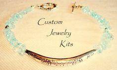 DIY bracelet kit, blue quartz bracelet kit, Beginner bracelet kit, Boho bracelet kit, DIY boho bracelet kit, Make your own bracelet kit by LovelyDawn on Etsy Diy Jewelry Making Kits, Jewelry Kits, Custom Jewelry, Make Your Own Bracelet, Bracelet Making, Diy Bracelets Kit, Beaded Bracelets, Chakra Bracelet, Boho Diy
