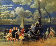 The Return of the Boating Party Artist: Pierre-Auguste Renoir Completion Date: 1862