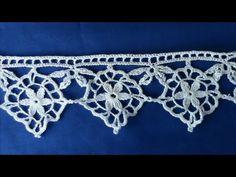Irish Crochet Basics, Triple Picot ground - YouTube