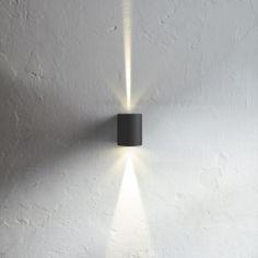 Canto vegglampe, 2x3W LED, valgfrie lysåpninger, ute  Mulig å ha inne? evt gang mellom hovedsov og opphold. disse gjør litt mindre av seg en GLOVE, mtp hvor mange punkt som er satt opp. + oppholdsrom
