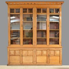 OnlineGalleries.com - Spectacular Huge Solid Oak Antique Arts And Crafts Victorian Library Bookcase / Dresser