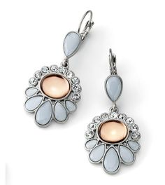 These cut crystal earrings would shine with any style dress.