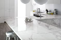 Creative benchtop  http://www.laminex.com.au/uploads/inspiration-gallery/Carrera%20Marble_large166.jpg