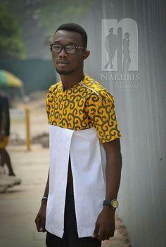 Ghanaian African wear designed by Nana Appiah Kubi ( nakubis) African Shirts For Men, African Dresses Men, African Clothing For Men, African Attire, African Wear, Nigerian Men Fashion, African Print Fashion, Africa Fashion, Ankara Styles For Men