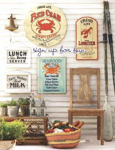 Next time you have a seafood feast, hang these charming Timber Cove signs only at Cost Plus World Market.