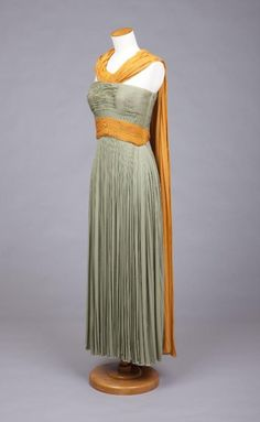 Evening Dress Madame Grès, 1949 The Goldstein Museum of Design Gorgeous.