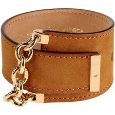 Dsquared2 Bracelet ($105) ❤ liked on Polyvore featuring jewelry, bracelets, khaki, leather bangle, dsquared2, leather jewelry i herringbone jewelry