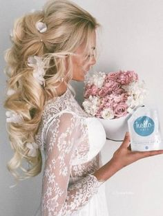 Ulyana Aster Long Wedding Hairstyles & Wedding Updos