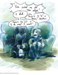 Hunter and Fox when they play video games!