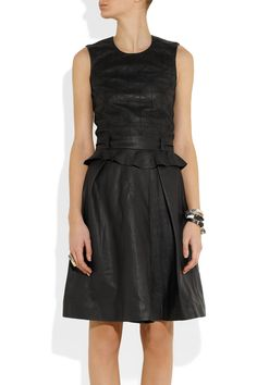 Preen Line Binary quilted leather and crepe dress NET-A-PORTER.COM