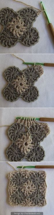 podkins:  CrochetDad's Wheel Stitch Block Tutorial
