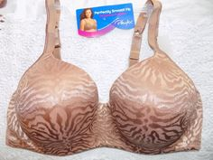 NWT 42D Playtex Women's Gold Cocoa Bra Balconette Underwire TruSupport  #Playtex #Balconettes