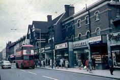 1101.Hounslow High St 1962 Vintage London, Old London, West London, Street Image, Street View, Brentford, War Dogs, Picture Albums, London Transport