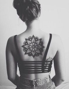 Mandala Back Tattoo for Girl - 30  Intricate Mandala Tattoo Designs  <3 <3
