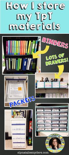 How I Organize My TpT Materials - Natalie Snyders, SLP
