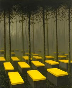 Apiculture by John Stark: I thought this was an interesting display of the woods. It has the right splash of color where it's needed.