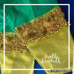 Latest saree blouse designs for 2018 that will amaze you - ArtsyCraftsyDad Hand Work Blouse Design, Simple Blouse Designs, Stylish Blouse Design, Blouse Designs Silk, Designer Blouse Patterns, Latest Saree Blouse Designs, Designer Saree Blouses, Wedding Saree Blouse Designs, Hand Embroidery Designs