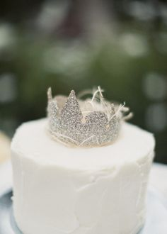 Cute Crown Wedding Cake Topper