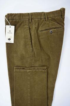 NWT ZANELLA pantalone uomo SPORTIVO velluto STRETCH  A/I tg. 50-52-54-56-58(IT)